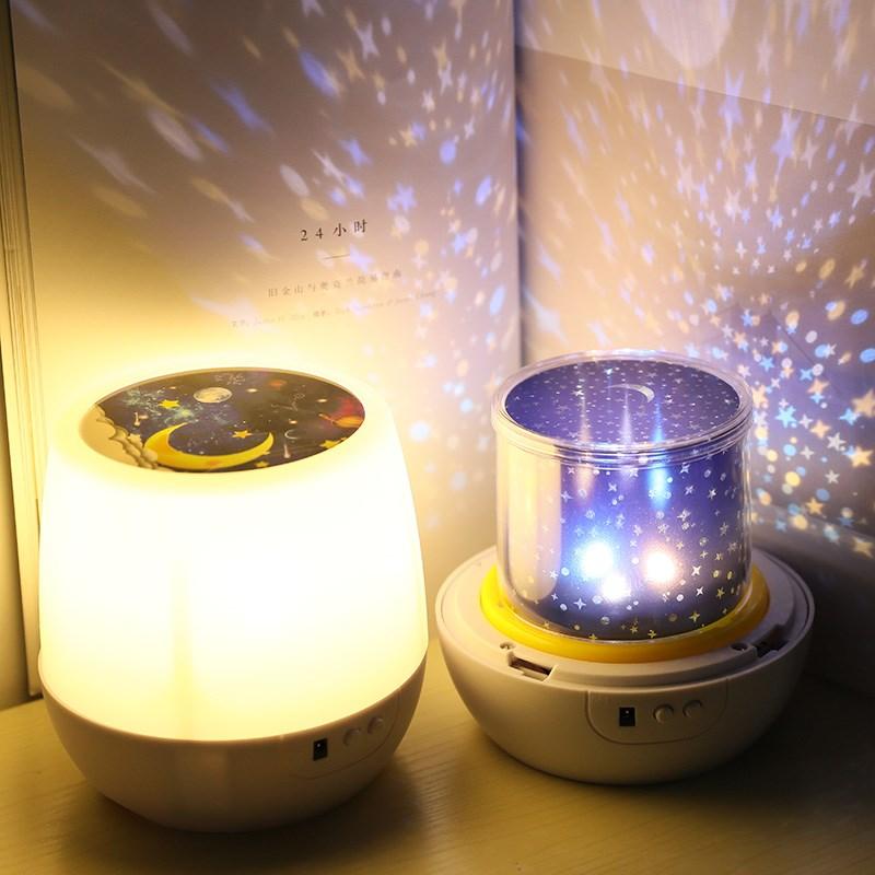 卧室氛围灯家用星空投影灯创意生日礼物女房间情趣儿童安睡宝宝韩