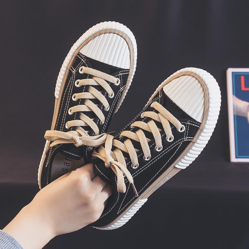 帆布鞋女鞋2021年新款春季小白韩版百搭ulzzang春秋学生饼干板鞋