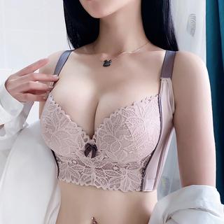 图薇娜调整型内衣聚拢收副乳文胸矫正外扩下垂高侧比六排扣小胸罩