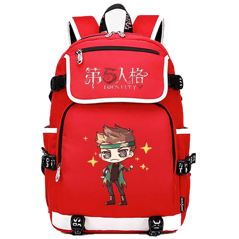 The fifth personality jieyuange with cartoon cartoon cartoon picture backpack male and female students schoolbag peripheral secondary element bag