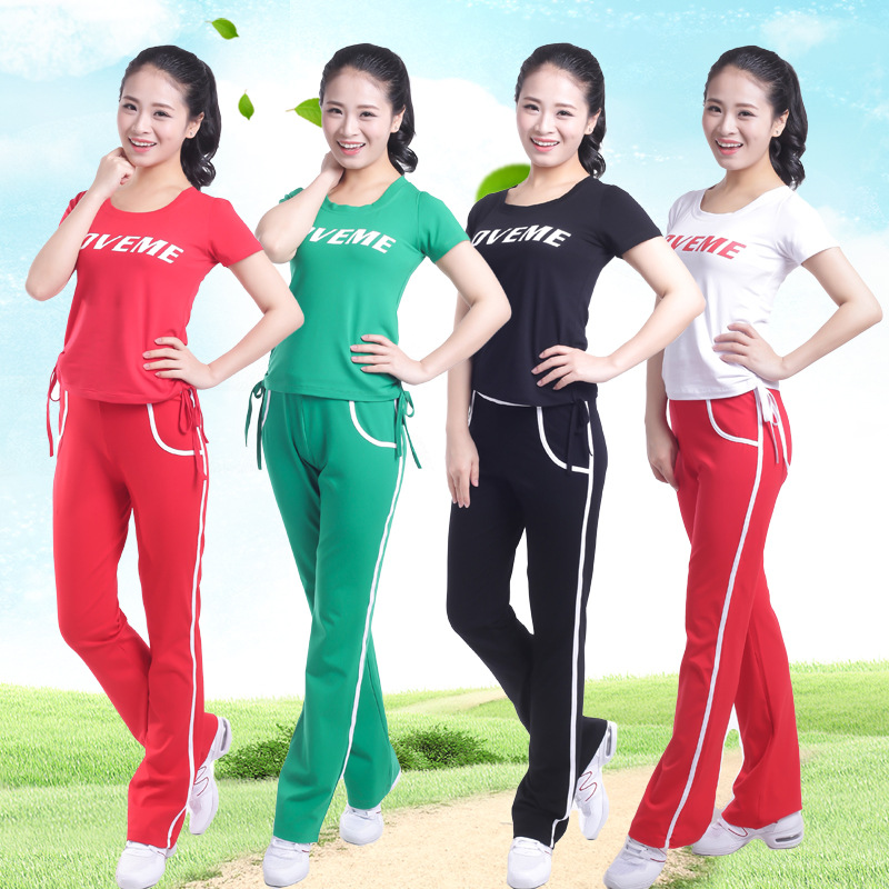 Square dance clothing new summer sports leisure outdoor morning exercise dance fitness dance suit tc15