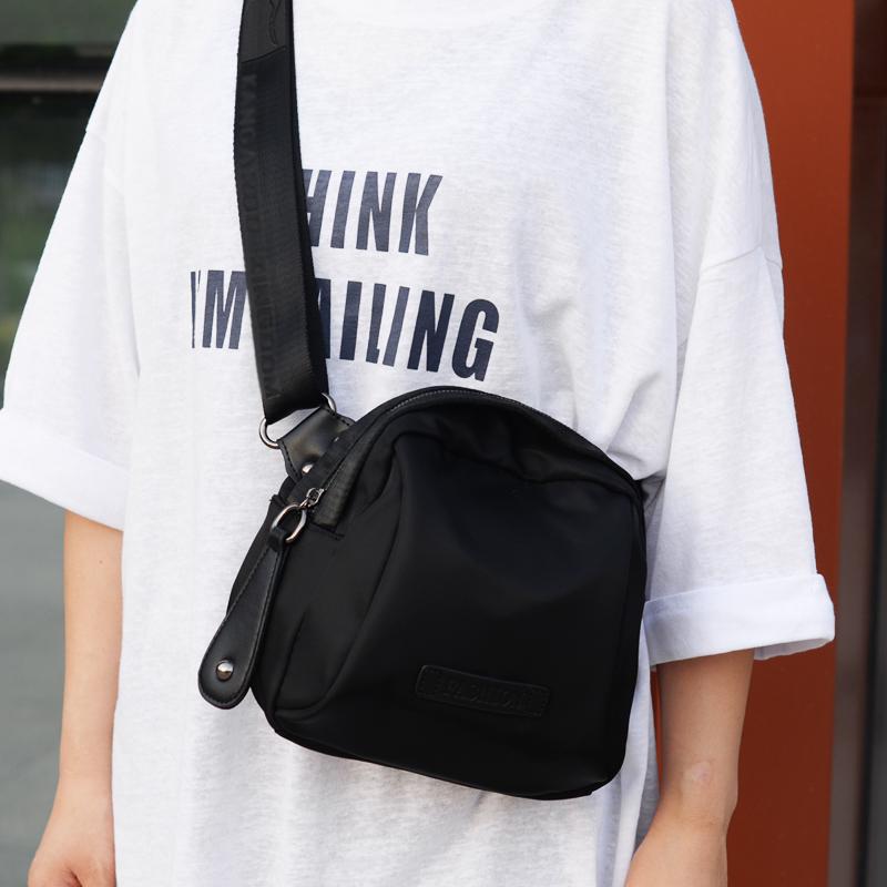 包包女2021新款韩版潮网红贝壳包牛津布女斜挎包帆布百搭单肩包小