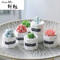 Xuan Charm DIY creative handmade small gifts cute personality multi-meat plant Type Soap mini styling gift Box hand washing