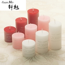 Xuan Glamour classic Aromatherapy cylindrical candlestick candle wedding romantic Valentines Day candles with scented smokeless candles