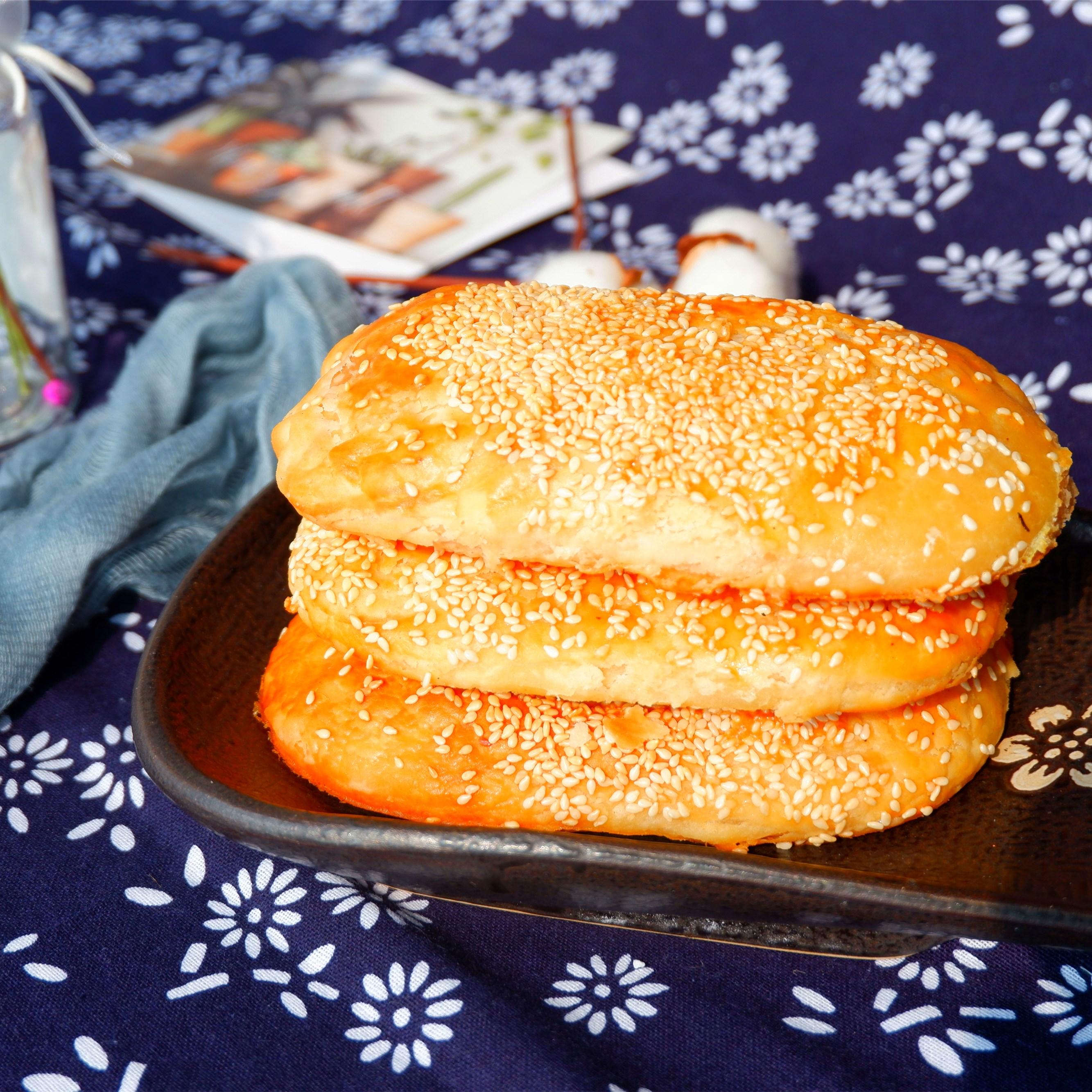 王兴记无锡油酥饼休闲茶点手工点心传统糕点零食酥蛋黄饼肉松烧饼
