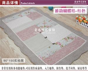 日式绗缝全棉加厚粗麻布艺客厅卧室防滑地垫地毯床垫榻榻米垫门垫