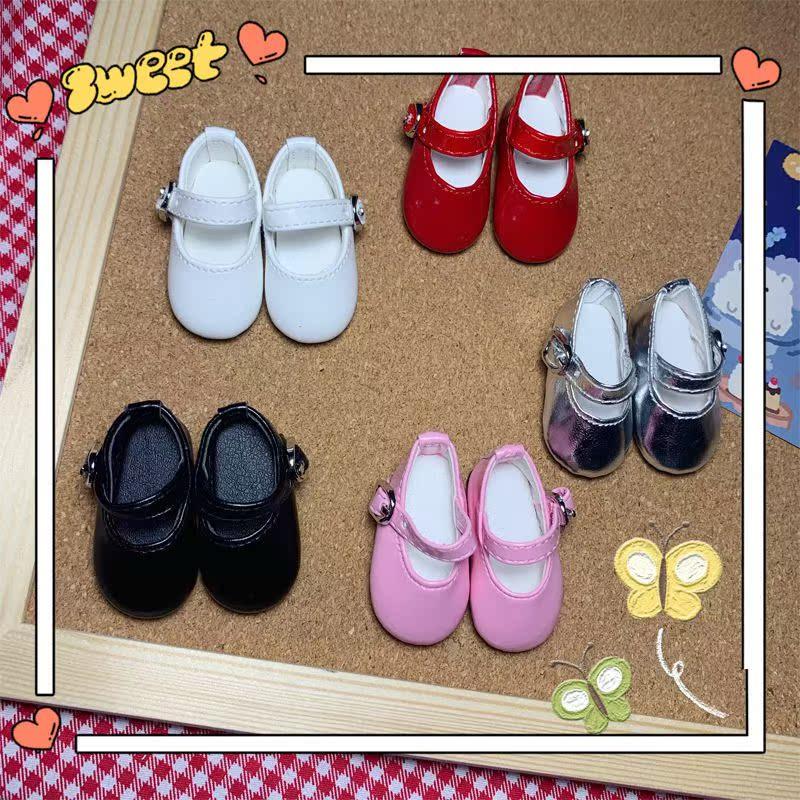 【小皮鞋】bjd6分娃娃鞋可爱单扣皮鞋平底休闲搭扣圆头搭配单品