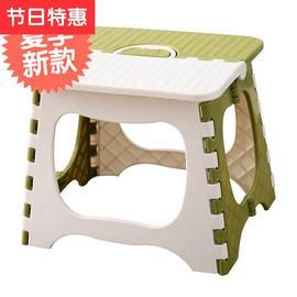 脚叠放朔料浴室凳方便小登0凳子卫生间家h用耐磨折叠式塑料凳结