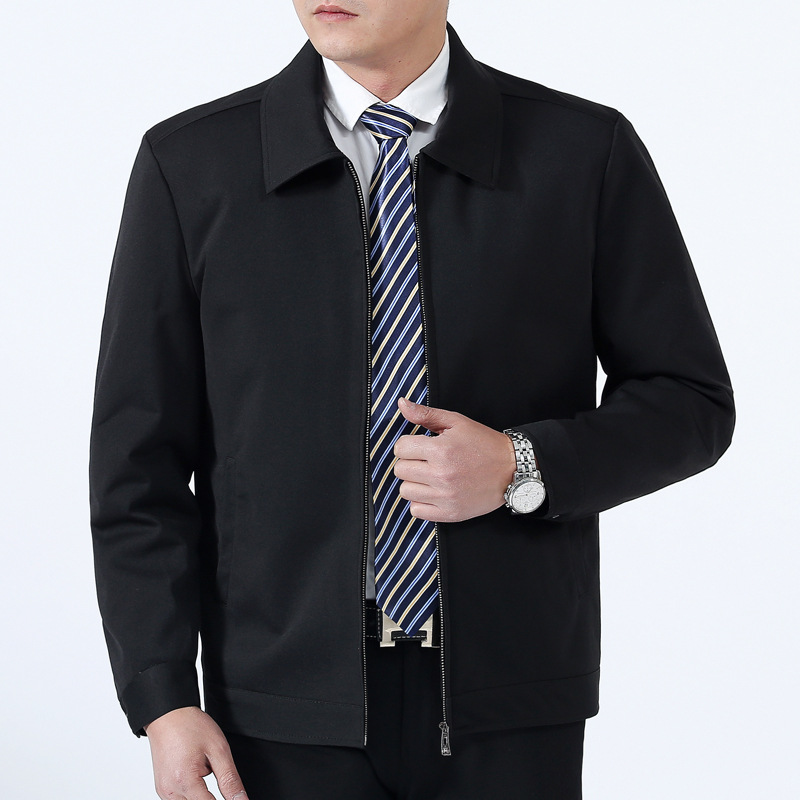 Mens new high-end spring coat father jacket