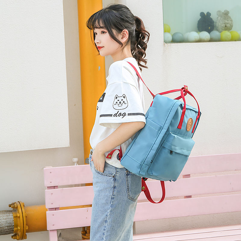 2020 new Korean high school students schoolbag female junior high school students backpack large capacity computer bag for girls