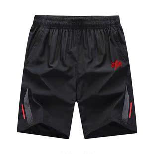 运动短裤男跑步健身套装速干五分裤薄款夏季宽松大码训练篮球中裤