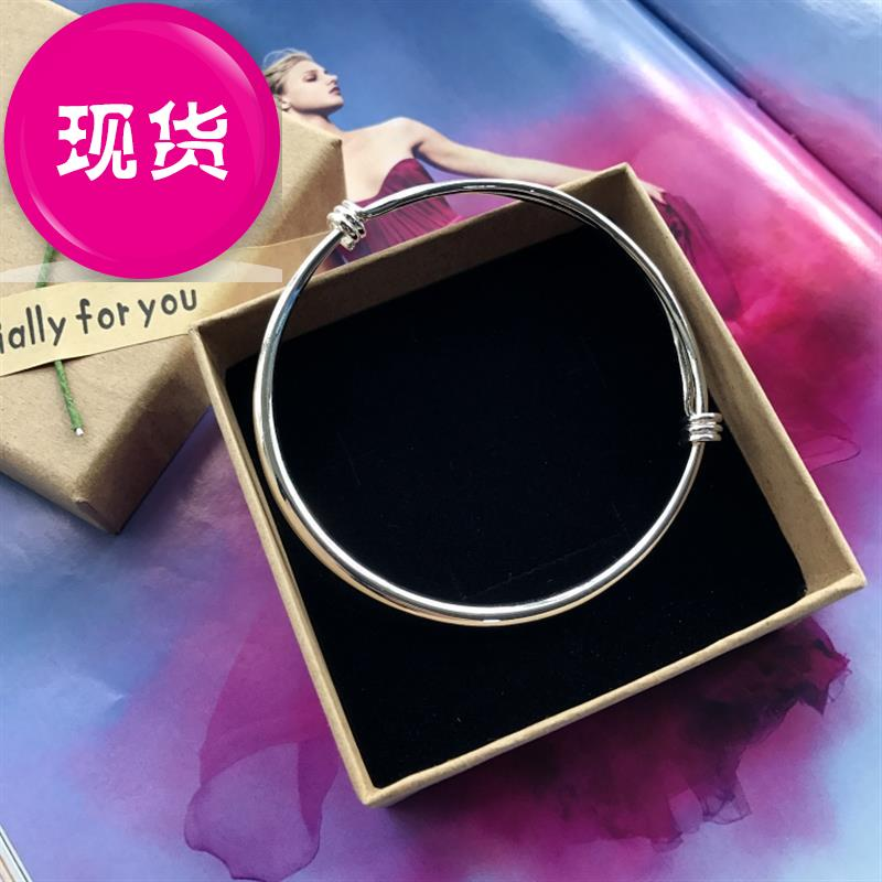 F new Korean small bell Bracelet Silver temperament chain girls smooth face simple versatile fashion foot ring