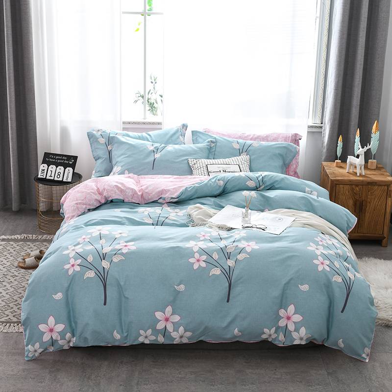 Jahrs spring new bedding 4-piece set all cotton bed sheet quilt cover pillow case - spring breeze
