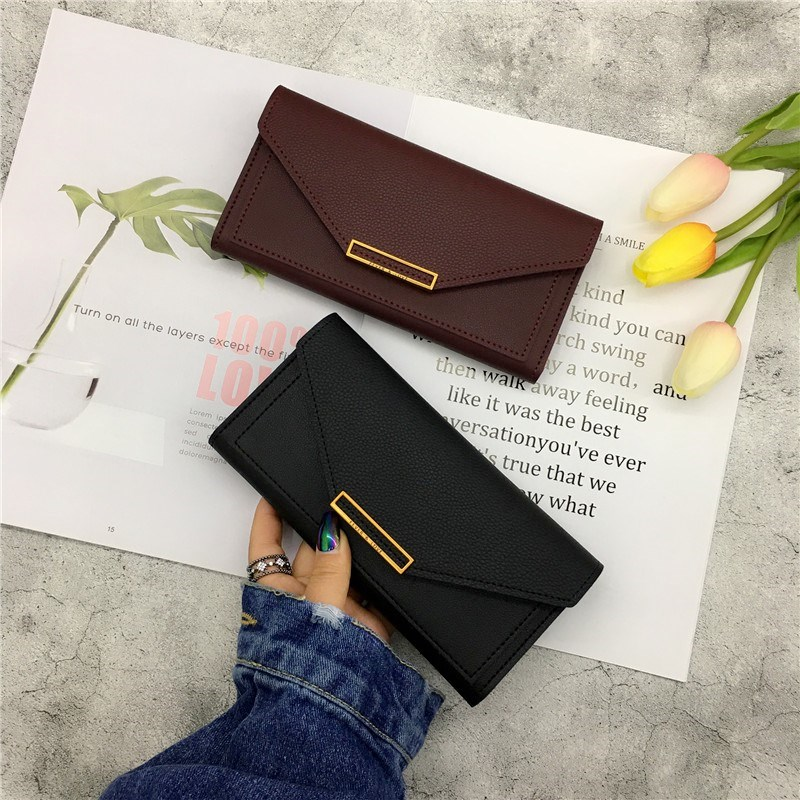 Wallet female simplicity cold minority Design Japanese and Korean version small ultra-thin long mobile phone all-in-one bag long folding