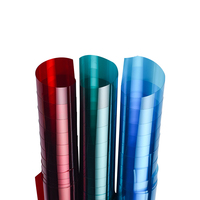彩色玻璃贴膜红色绿色蓝色改色贴纸好用吗