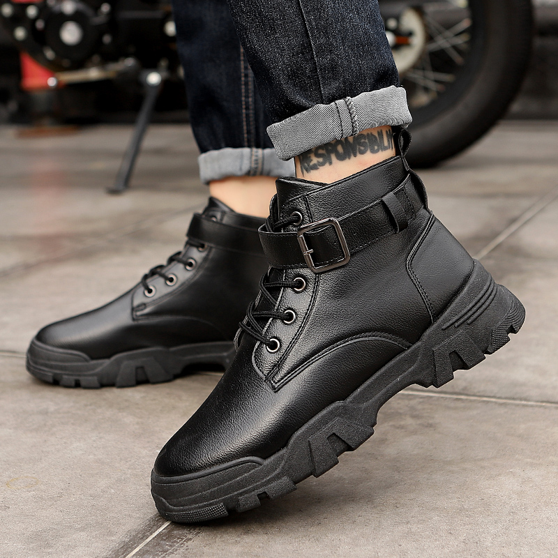 British style high top Martin boots net red shoes mens fashion shoes Korean work boots casual mens shoes