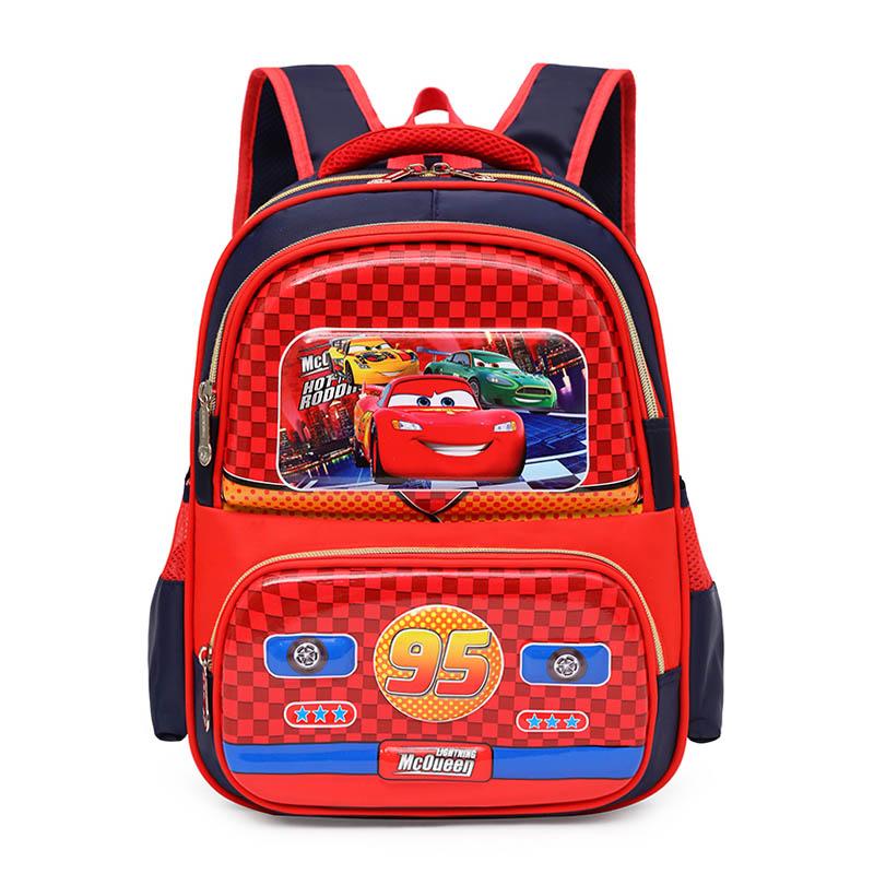 汽车总动员书包小学生1-3年级男孩双肩包儿童赛车闪电麦昆卡通包2