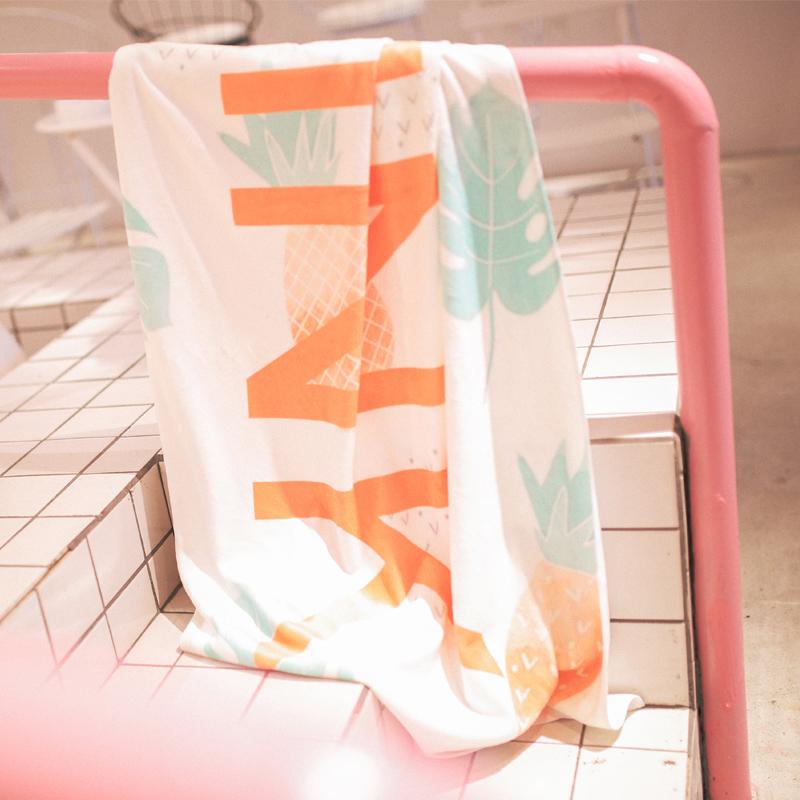 爱沫汐速干浴巾 游泳沙滩温泉运动吸水旅行沙滩巾 无捻纱柔软轻便