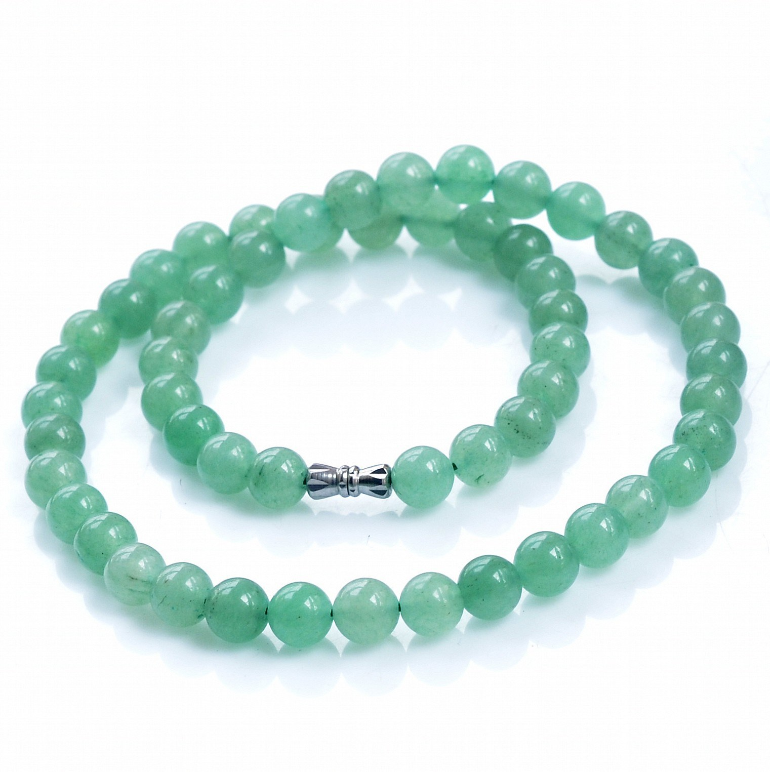 [identification certificate] natural Dongling jade necklace Dongling jade round bead flat chain jade necklace gem necklace