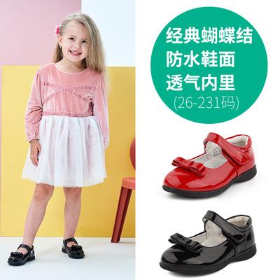 芙瑞可儿童皮鞋春女童单鞋3-5岁公主鞋亮皮学生鞋红白黑色蝴蝶结