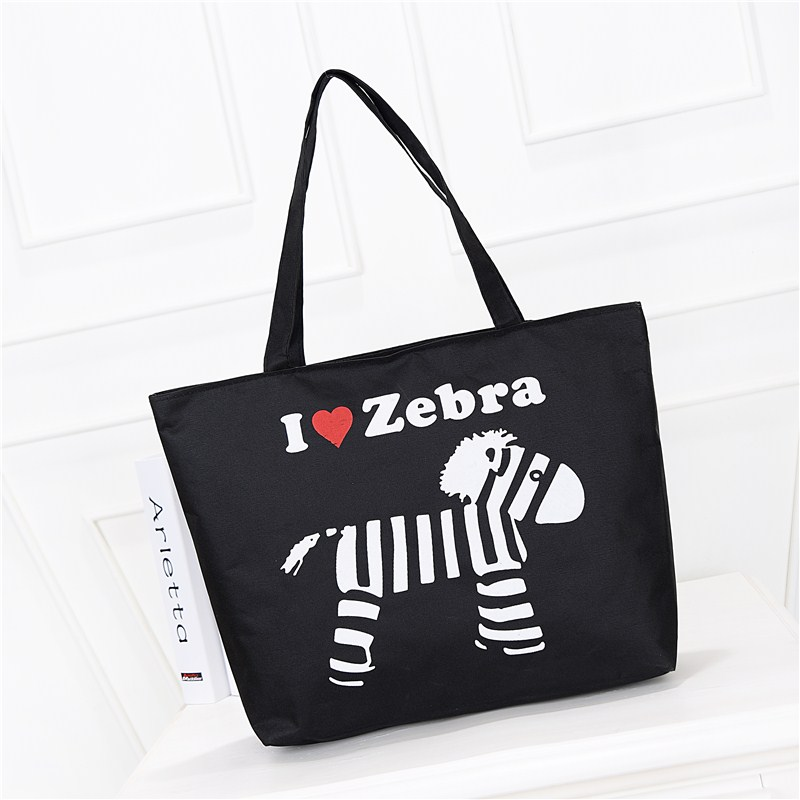 Fashion portable canvas bag womens single shoulder Korean literature and art simple Sen schoolbag environmental shopping canvas bag