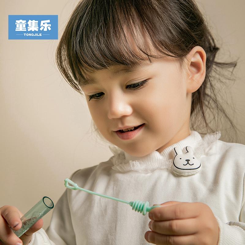 童集乐女童1-6岁夹棉加厚T恤小童宝宝幼童打底衫冬季9120502