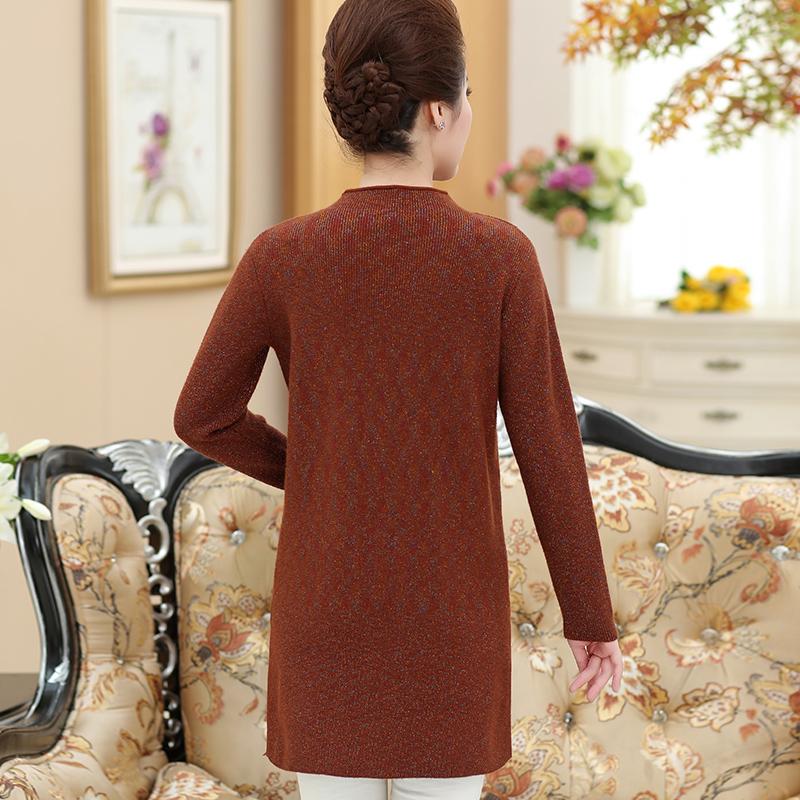 中年女装气质春秋季毛衣服50岁40中老年妈妈秋装中长款打底衫宽松