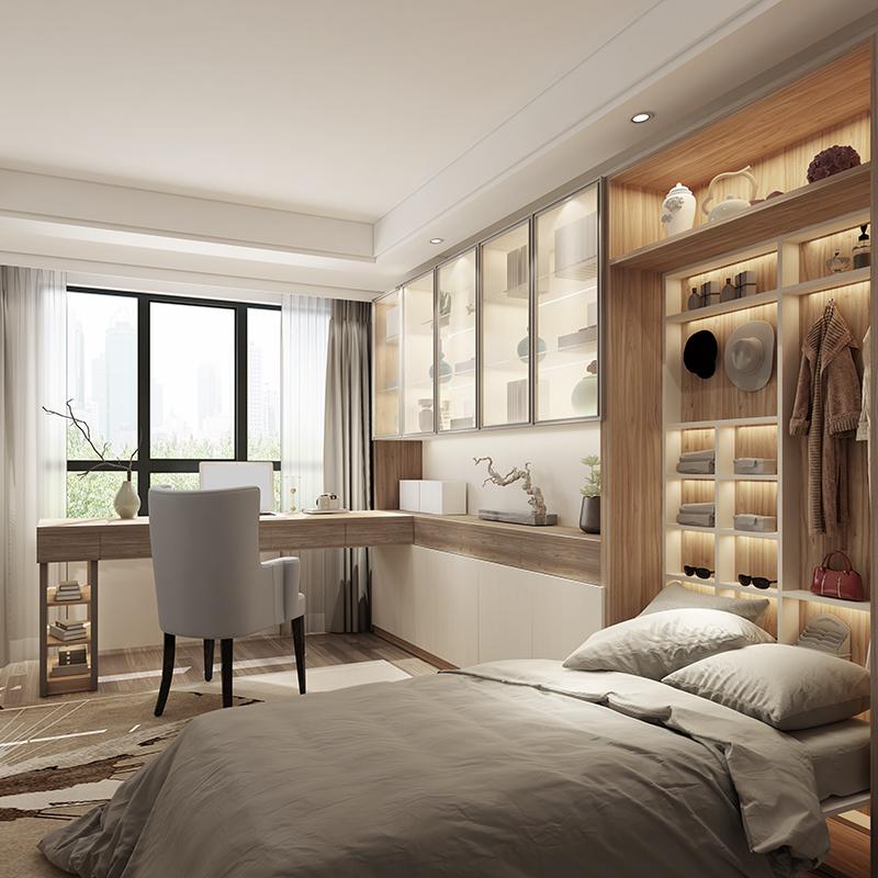 欧派衣柜定制全屋定制整体卧室步入式家居简约实木家具衣帽间定做