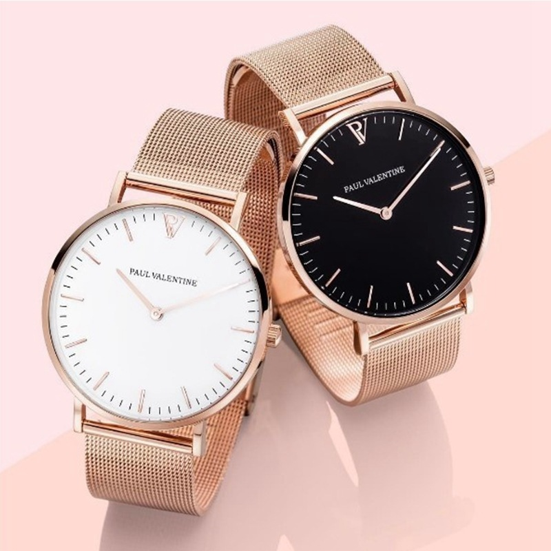 New mesh Watch Ladies Watch fashion stainless steel watch with rose gold quartz watch