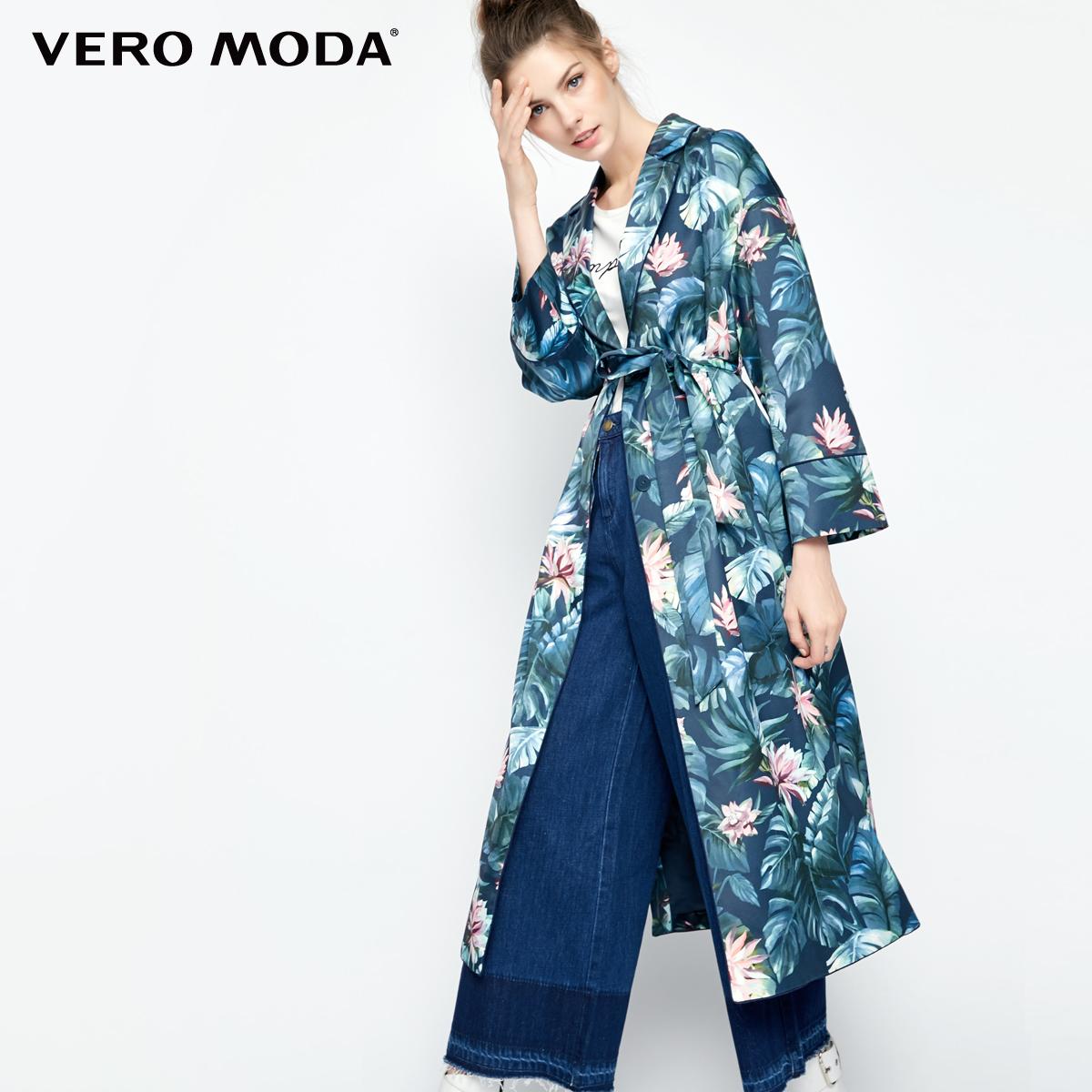 Vero Moda2017秋季新款数码印花睡衣风风衣外套|317321515