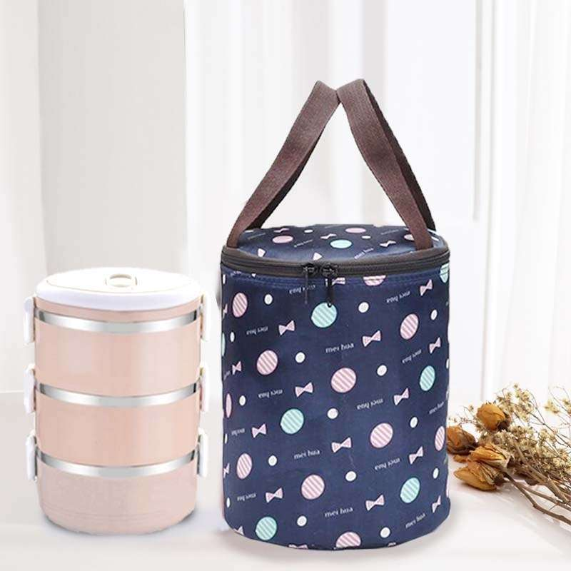Lunch box bag office workers simple heat preservation Bucket Bag Handbag go out fashion portable Lunch Bag