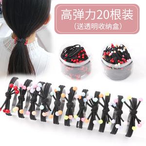 韩国儿童扎头发饰橡皮筋小女孩可爱简约发圈不伤发高弹力头绳发绳