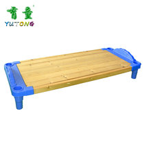 Child childrens plastic combination wooden bed Kindergarten baby children nap lunch break bed can be stacked