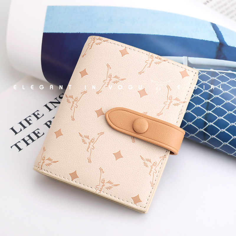 Two fold womens wallet 2020 new fashion wallet childrens short folding small slim exquisite Japanese