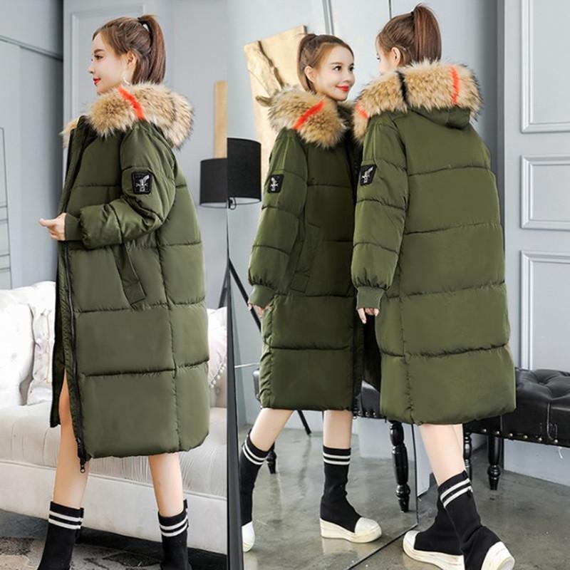 26大码女装胖MM260斤羽绒棉衣韩版中长款超肥超大冬外套显瘦棉服