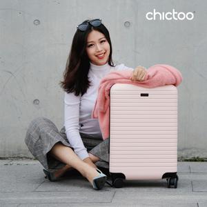 chictoo拉链款充电旅行女小登机箱