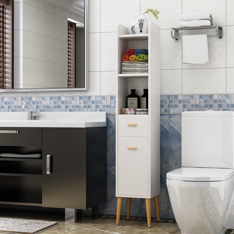 10月14日最新优惠浴室卫生间置物储物收纳边柜厕所窄柜马桶边角柜夹缝立柜侧柜定制