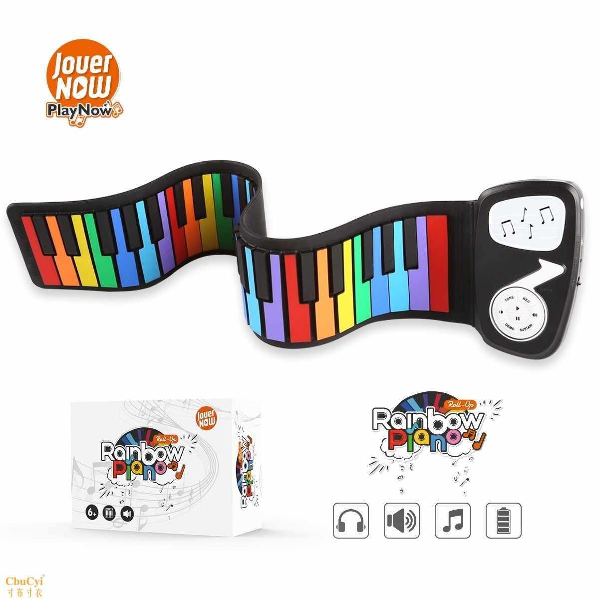 49键手卷钢琴 户外电子乐器 硅胶电子琴 电子钢琴 多功能琴