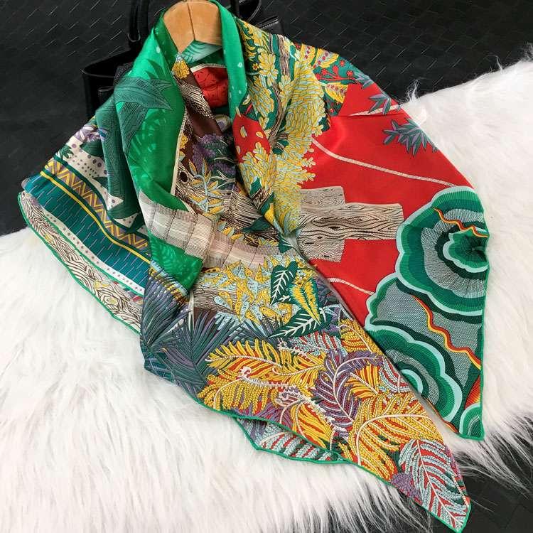 Womens scarves 2020 new dream of midsummer night silk scarves silk scarves silk scarves 110 large square shawls