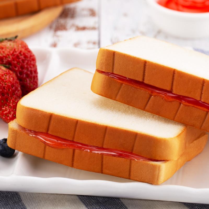 稻禾麦田果酱夹心吐司整箱学生面包