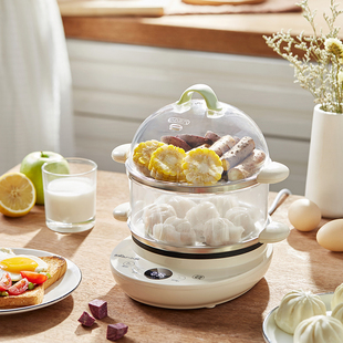 小熊蒸蛋器自动断电家用煮蛋器小型多功能煮鸡蛋神器煎蛋器蛋羹机价格