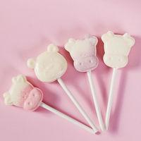 无蔗糖卡通牛头奶棒糖混合味创意可爱儿童牛奶片网红棒棒糖果零食