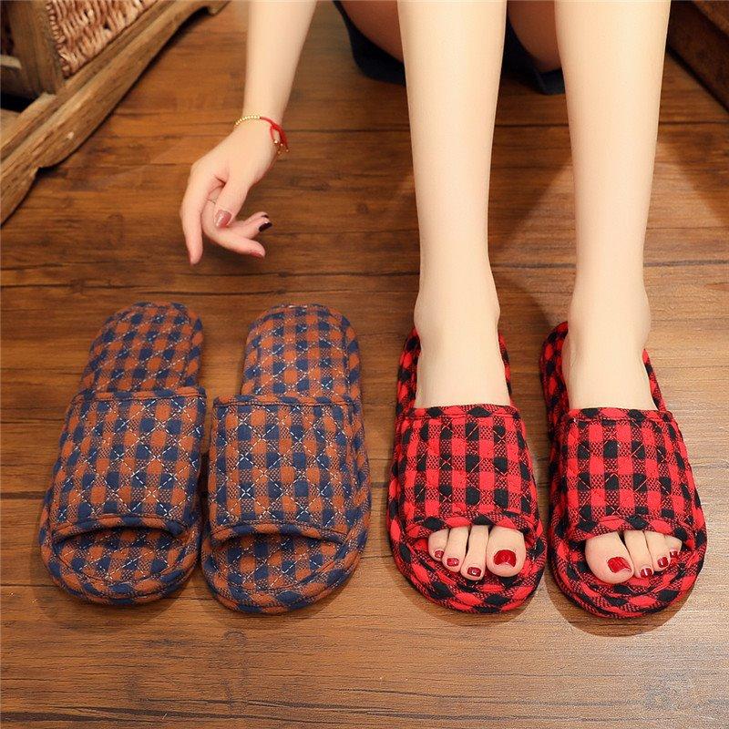 拖鞋女家居室内情侣居家地板软底家用静音室内鞋大人女士秋季单