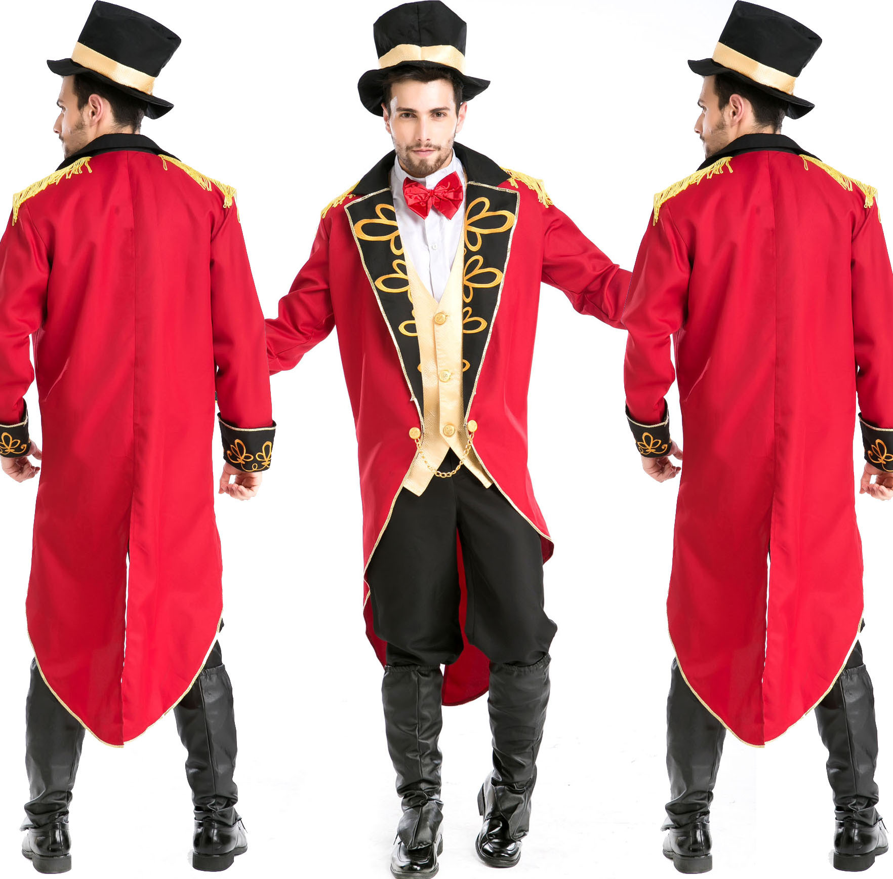 扬诚式魔术师表演服装角色扮演万圣节制服游戏舞台服演出服装男