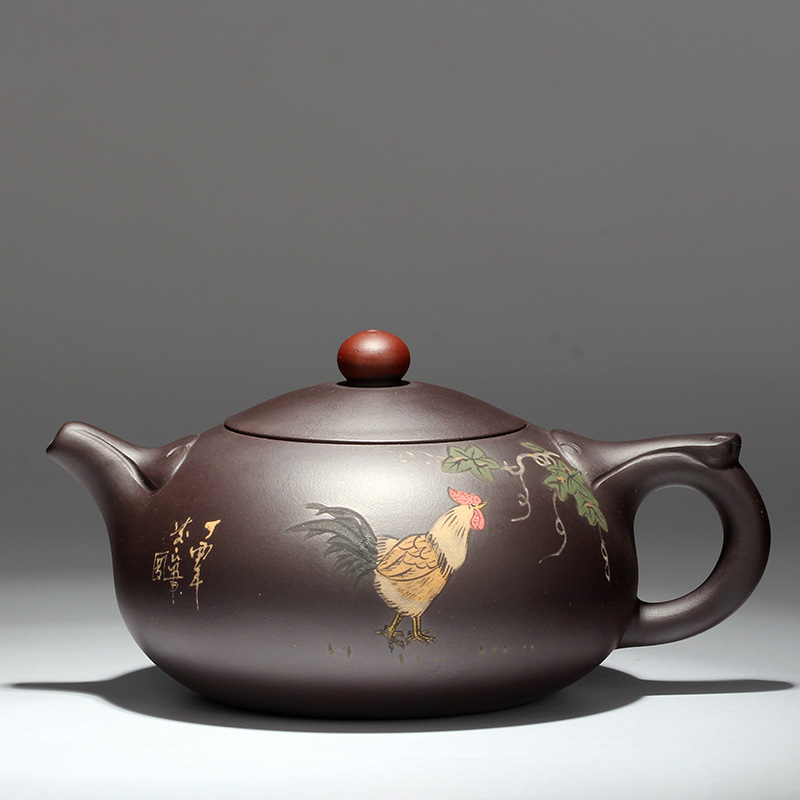 紫砂壶宜兴纯全手工名家西施石瓢紫泥悟道茶具泡茶壶套装