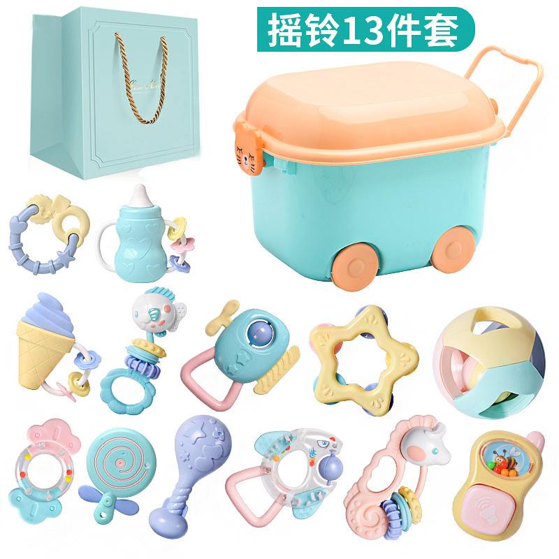 新生儿礼盒玩具套装03个月6刚出生宝宝满月礼物婴儿用品秋冬母婴