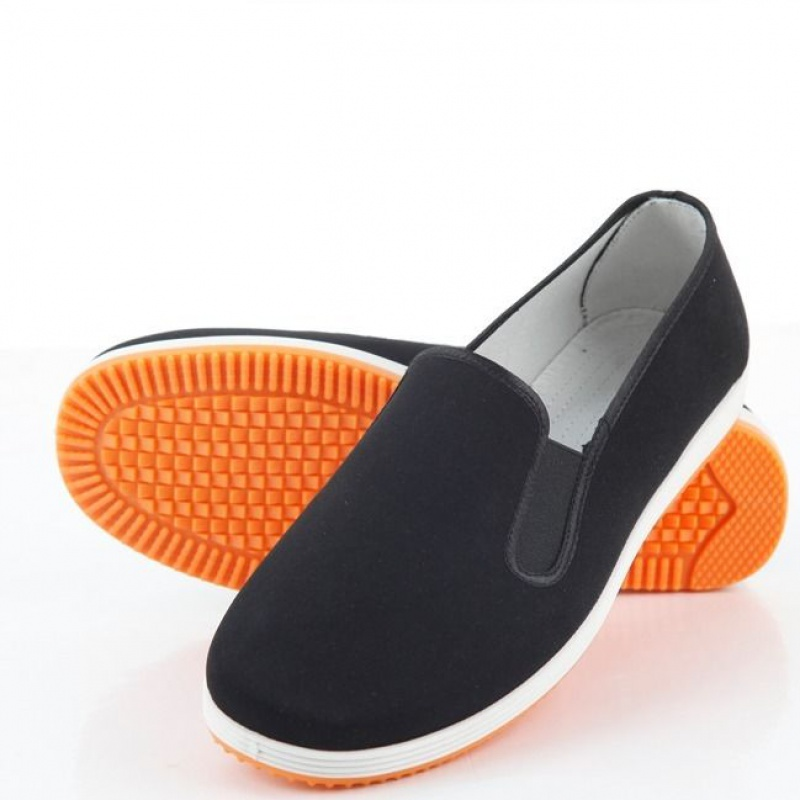 Mens old Beijing craft cloth shoes breathable deodorant lazy shoes pure cotton breathable low top shoes casual slip