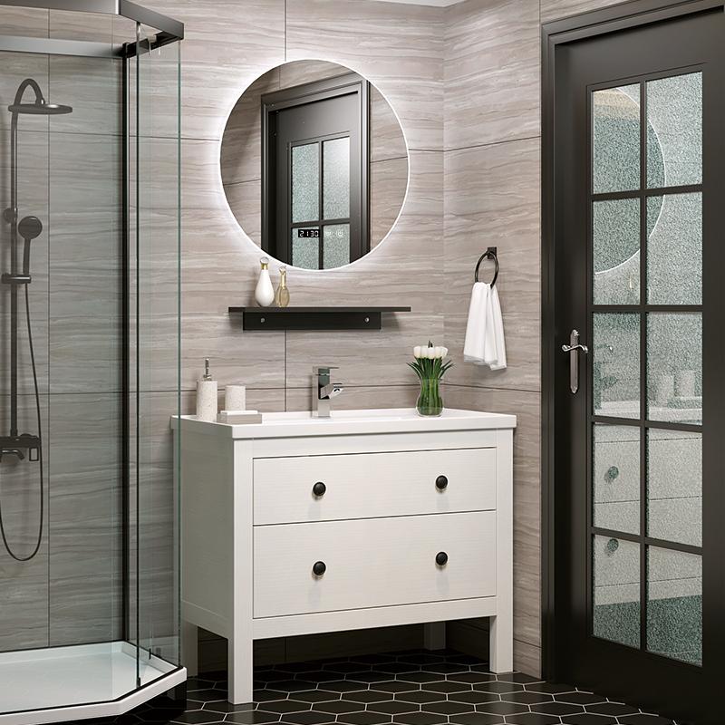 假一赔三古德莫北欧现代浴室柜组合落地洗漱台洗脸盆柜卫生间简约洗手盆柜