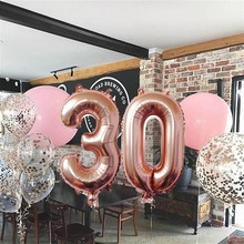 iversary Birthday Party Supplies Decoration Number Balloons