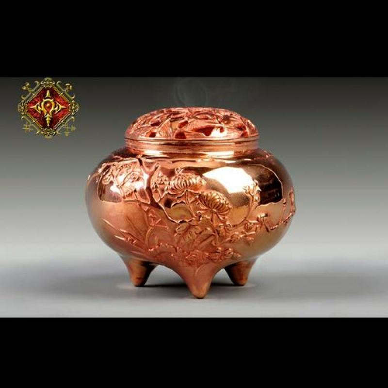 奥格瑞玛 新品 青铜四君子香炉BRO-L0298 现货